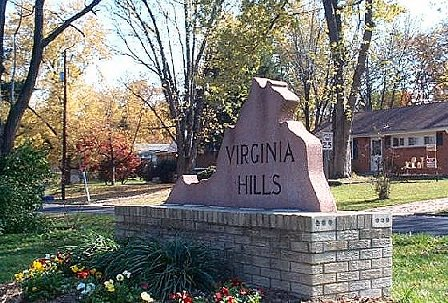 Virginia Hills Sign on Telegraph Road